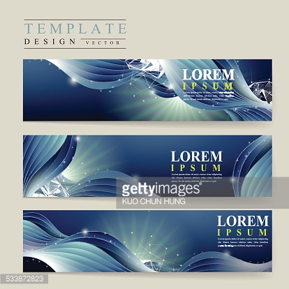 abstract technology background for banners set