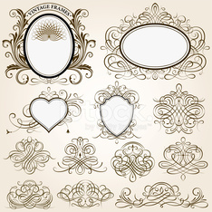 Calligraphic Frames And Design Elements
