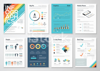 Infographics flyer and brochure elements for business