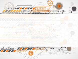 Abstract background with various technological elements