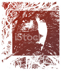 Texture Background of Woman and Trees