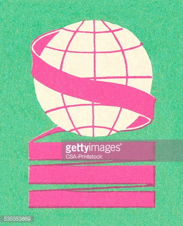 Ribbon Wrapped Around a Globe