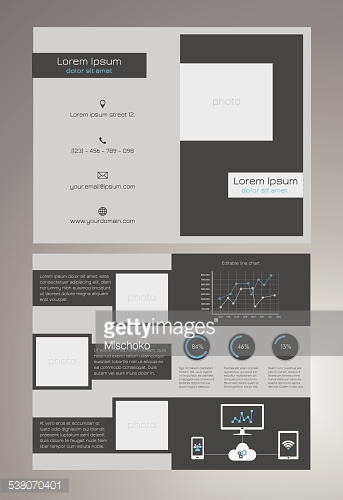 bifold business brochure template inches stock photos. Black Bedroom Furniture Sets. Home Design Ideas