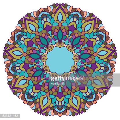 bright colored hand-drawing ornamental abstract background