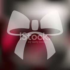 ribbon icon on blurred background