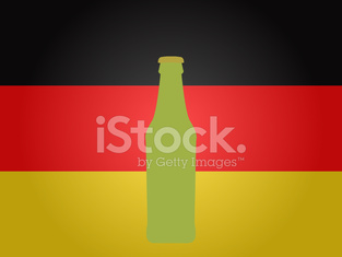 German Flag with a Bottle of Beer