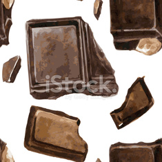 seamless pattern with pieces of chocolate