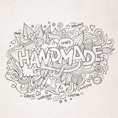Handmade hand lettering and doodles elements background