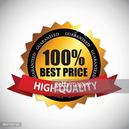 Best Price Golden Label Vector Illustration
