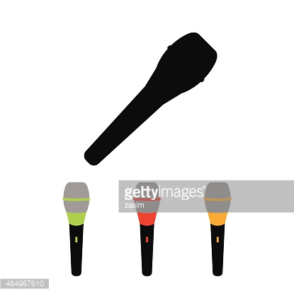 Microphone icons on white background. Vector illustration