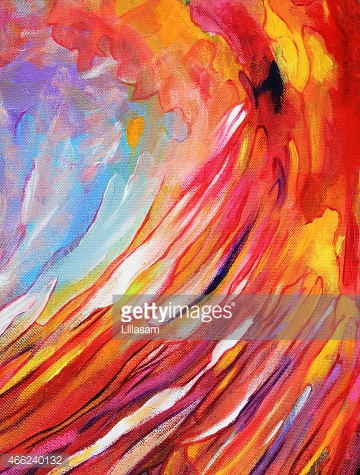 Abstract painting of swirling movement
