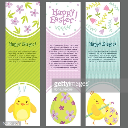Easter holiday banners template.