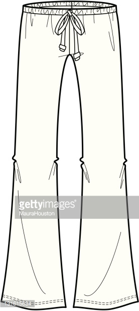 Fashion Illustration of drawstring pants