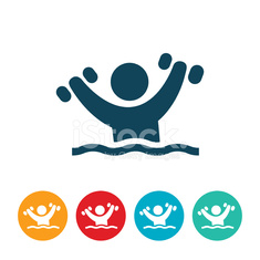 Person Doing Water Aerobics Icon
