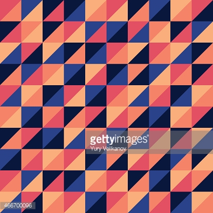 Abstract seamless pattern with colorful triangles.