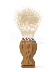 Old Style Barber Shaving Cream Brush with Wooden Handle