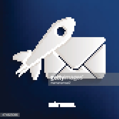 Email design on blue background,clean vector