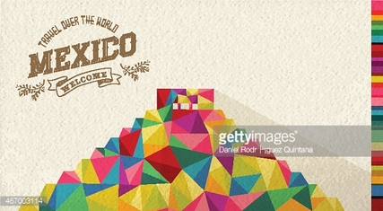 Travel Mexico landmark polygonal monument