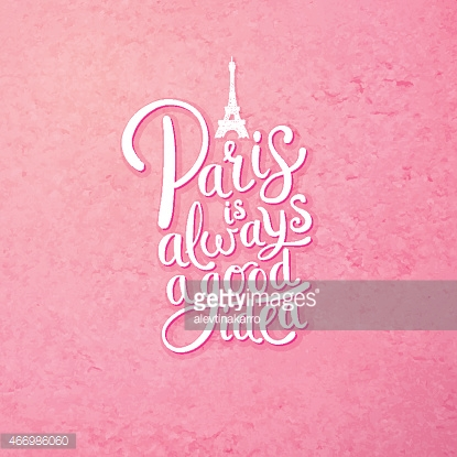 Paris is Always a Good Idea Concept on Pink