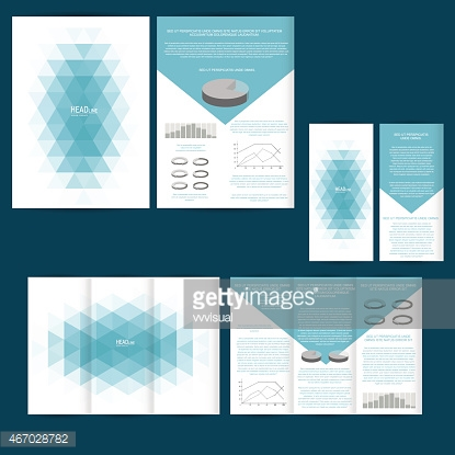Set of design template with flyer, poster, brochure.