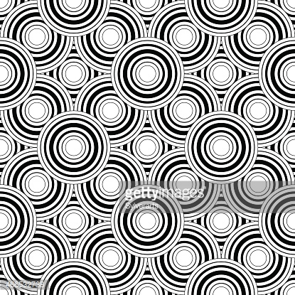 Seamless black and white geometric pattern, simple background