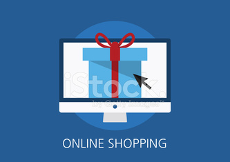online shopping concept flat icon