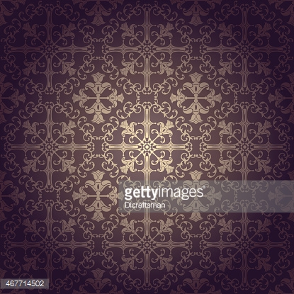 Seamless flowers baroque background