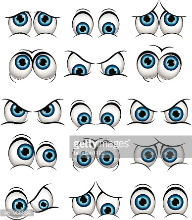 Cartoon faces with various expressions for you design
