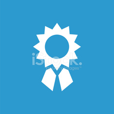 achievement icon, white on the blue background