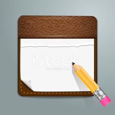 User interface notepad icon.