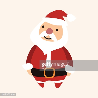 Christmas santa claus flat icon elements background,eps10
