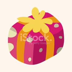 Christmas gifts flat icon elements background,eps10