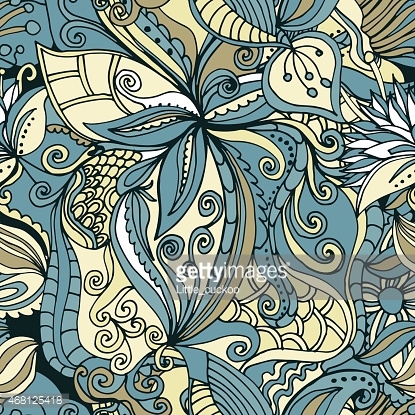 abstract hand-drawn pattern. seamless doodle texture