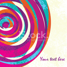 Colorful vintage vector background