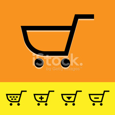 Shopping cart icons set great for any use. Vector EPS10.