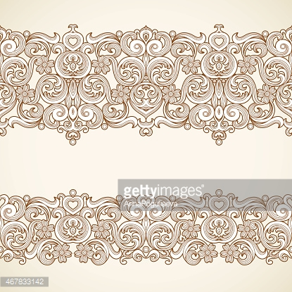Vector vintage borders in Victorian style.