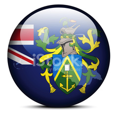 Map on flag button of Pitcairn Islands