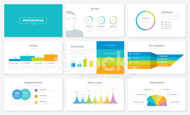 Infographic presentation slide templates and vector brochures fo