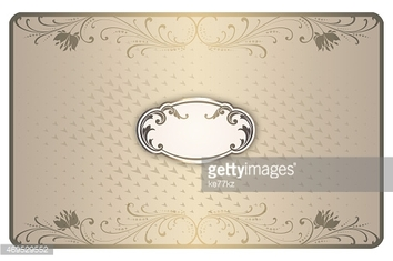 Business card template. Vintage style.