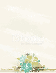 bouquet of hibiscus on beige background