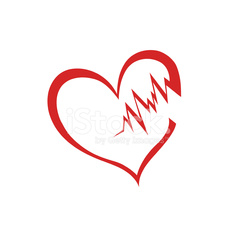 Vector Of Broken Heart Outline Isolated On White Stock Photos