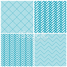 set of vector chevrons abstract geometric seamless pattern