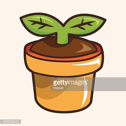 Flower pot theme elements