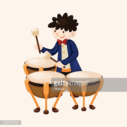 character musician timpanist theme elements