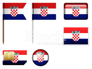 Croatia flag set