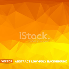 Vector abstract polygonal yellow background