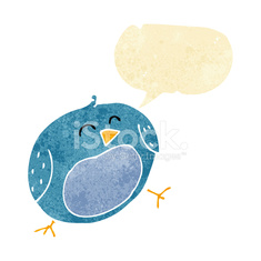 cartoon bird with speech bubble