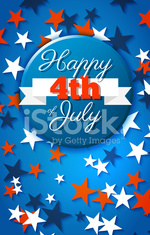 Happy 4th of July card, national american holiday Independence d