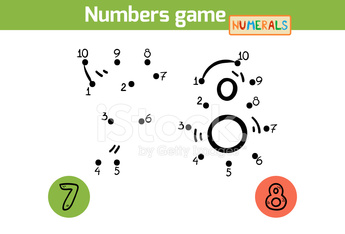 Numbers game (Numerals): seven, eight