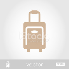 Traveling Bag vector icon